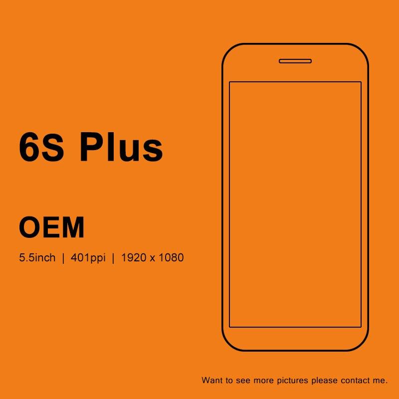 OEM de catégorie pour l'iphone 6 S Plus écran tactile d'affichage à cristaux liquides avec l'assemblage de numériseur noir et blanc avec le contact 3D pour l'iphone 6 S Plus LCD