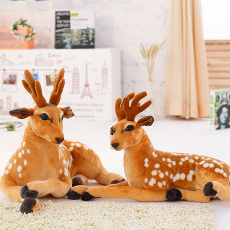 Hot Sale 30cm 75Cm Simulation Deer Plush Toy Staffed Sika Deer Toy Kids Baby Doll Children Birthday Gift Fast Shipping