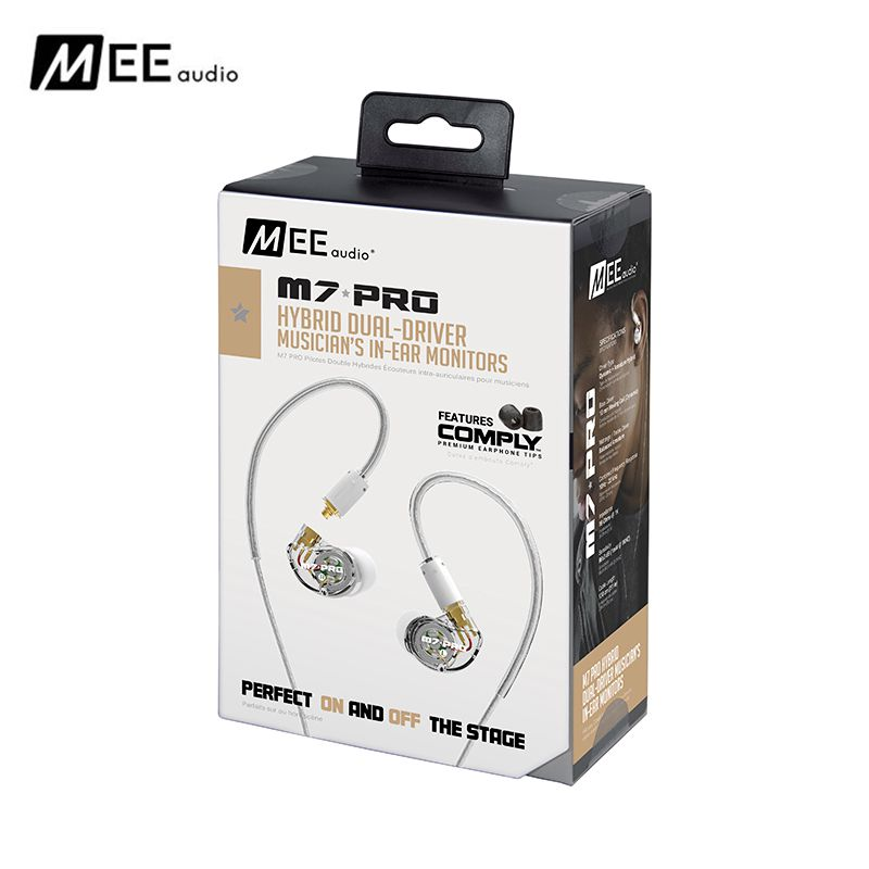 Authentic MEE audio M7 PRO Universal-Fit Hybrid Dual-Driver Musician's In-Ear Monitors With Detachable Cables for Iphone Huawei high quality wired sports running earphone mee audio m6 pro hifi in ear monitors with detachable cables also have se215