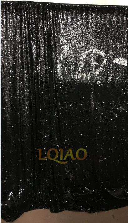 4x6ft Black Reversible Mermaid Sequin Fabric Backdrop Sequin Curtains Photo Booth Wedding Glitter Party Background Decorations
