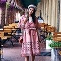 MX119 Новое Прибытие Осень 2016 мода старинные eleagnt женщин выдалбливают замша кисточкой v шеи половины рукав плаща пальто х длинные