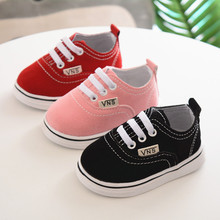 New Baby Shoes for Girls Breathable Canvas Shoes 1-3 Years Boys Shoes 2 Color Comfortable Girls Baby Sneakers Kids Toddler Shoes