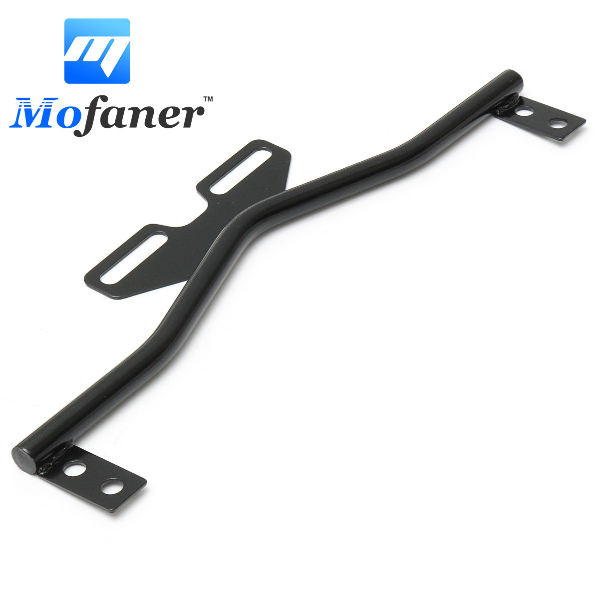 Mofaner Black Motorcycle Headlight Mounting Bracket For Spot Fog Turn Signal Light