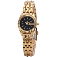 FORSINGING Watches For Women Top Luxury Brand Ladies Quartz Wrist Watches Crystal Decorated Calendar Date Geneva