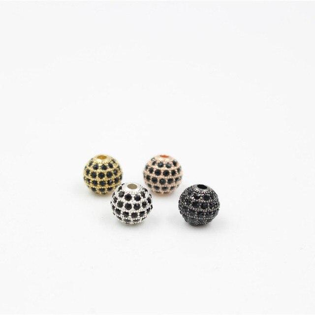Модные круглые латунные бусины nadey с микро закрепкой из черного