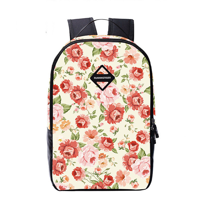 New Fashion Backpacks For Teenage Girls Floral Bag Young Girl Junior