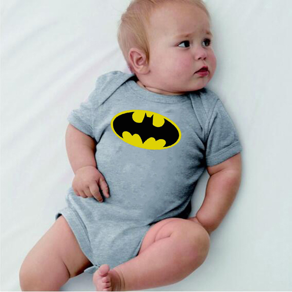 8colors Baby Costumes Ropa Bebe short Sleeve super hero Baby Rompers Batman Newborn Baby Boy Clothes Birthday Baby Clothes 0-24M
