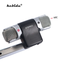 kebidu Mini 3.5mm Microphone Stereo Mic For Recording Mobile Phone Studio For Laptop Microphone Wholesale