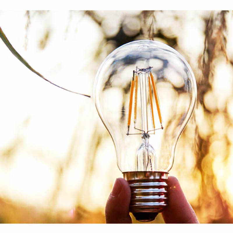 4 pièces lampe à LED 220V E27 E14 LED lampe à incandescence 2W 4W 6W 8W rétro Edison ampoule bougie verre LED spécialité lumières décoratives