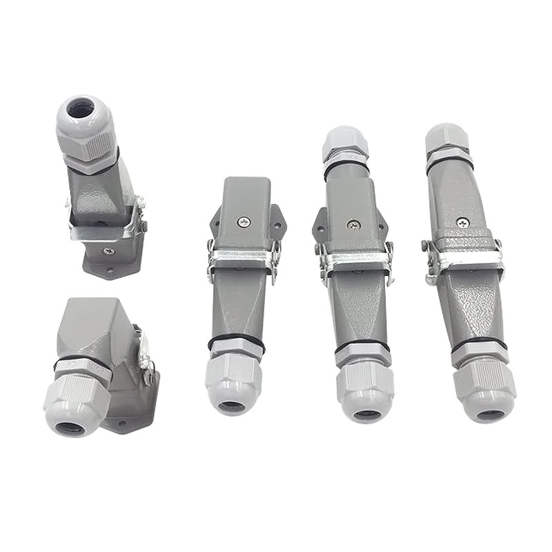 Heavy Duty Connector 4core (3+1) 5core (4 +1) 6core (5+1) 8core (7+1) 10A  Rectangular Aviation Plug