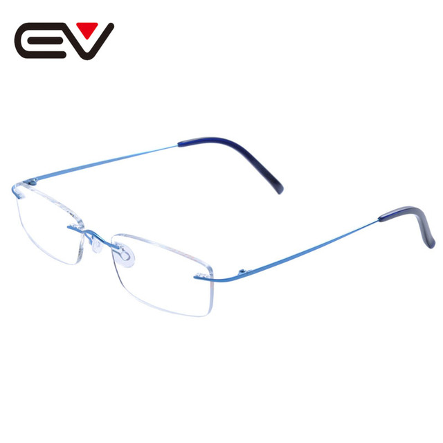 2016 New Fashion Men Women Pure Titanium Rimless Eyeglasses Frames Optical Glasses Frame titanio gafas sin montura marco EV1352