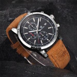 Image 3 - ساعة يد للرجال من BENYAR كرونوغراف مقاومة للماء ساعات يد رياضية من الجلد الطبيعي للرجال من علامة تجارية فاخرة ساعة رجالية عسكرية 5102