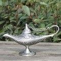 Vintage tee topf home dekoration zinn überzogene handwerk retro geschenke Ala ddin Lampe-in Teekannen aus Heim und Garten bei