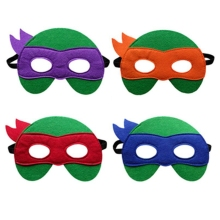 GNHYLL Ninja Turtles Máscara Capitán América Teenage Mutant Ninja Turtles The Avengers Kid Regalo de cumpleaños Cosplay Party Máscaras