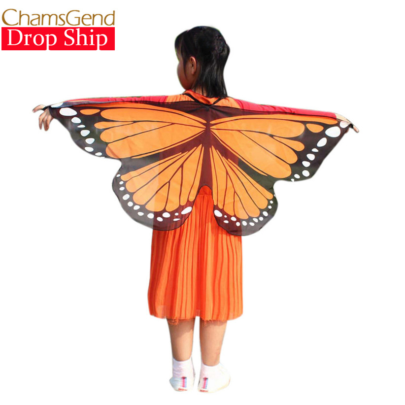 Chamsgend Newly Design Butterfly Wings Pashmina Shawl Kids Boys Girls Costume Accessory 0509 stylish stripe pattern fringed shawl wrap pashmina