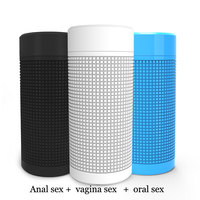 NEW Pocket Pussy Sex Toys for Men Artificial Anal Oral Realistic Vagina Adult Masturbator Sex Products Including Vibrator Egg