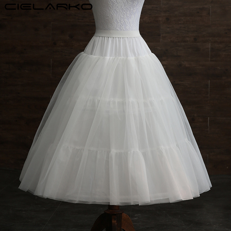 86b48c1771 Cielarko Girls Skirt Kids Petticoat for Formal Gown Tulle Basic Children White  Underskirt with Hoops for Wedding Accessories