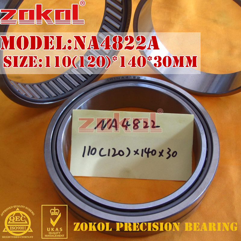 ZOKOL bearing NA4822 A NA4822A Entity ferrule needle roller bearing 110(120)*140*30mm na4922 heavy duty needle roller bearing entity needle bearing with inner ring 4524922 size 110 150 40