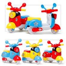 Игрушка для детей, милая пластиковая мини-игрушка для мотоцикла, оттягивающая назад Литой мотоцикл, ранняя модель, развивающие игрушки для детей