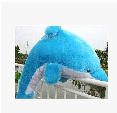 купить Stuffed animal 120cm blue dolphin plush toy doll gift w1668 по цене 2702.9 рублей