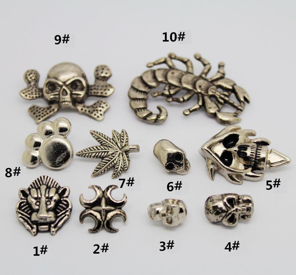 alloy multiple designs punk garment rivet stud for cap,shose, bag, hat,jeans,,leather chocker diy craft accessories ...