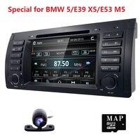 Cho BMW 5 Series E39 E53 X5 M5 Autoradio Xe Wince 6.0 độc Din 7 inch Car DVD Player GPS Navi Stereo Chỉ Đạo Wheel Máy Ảnh
