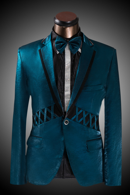 7c0a2f2ffb890 Koszulka męska Slim Garnitur Moda Paw Zielony Mężczyźni Oblubieniec Suknia  Ślubna Suknia Męska Marynarka (Suit