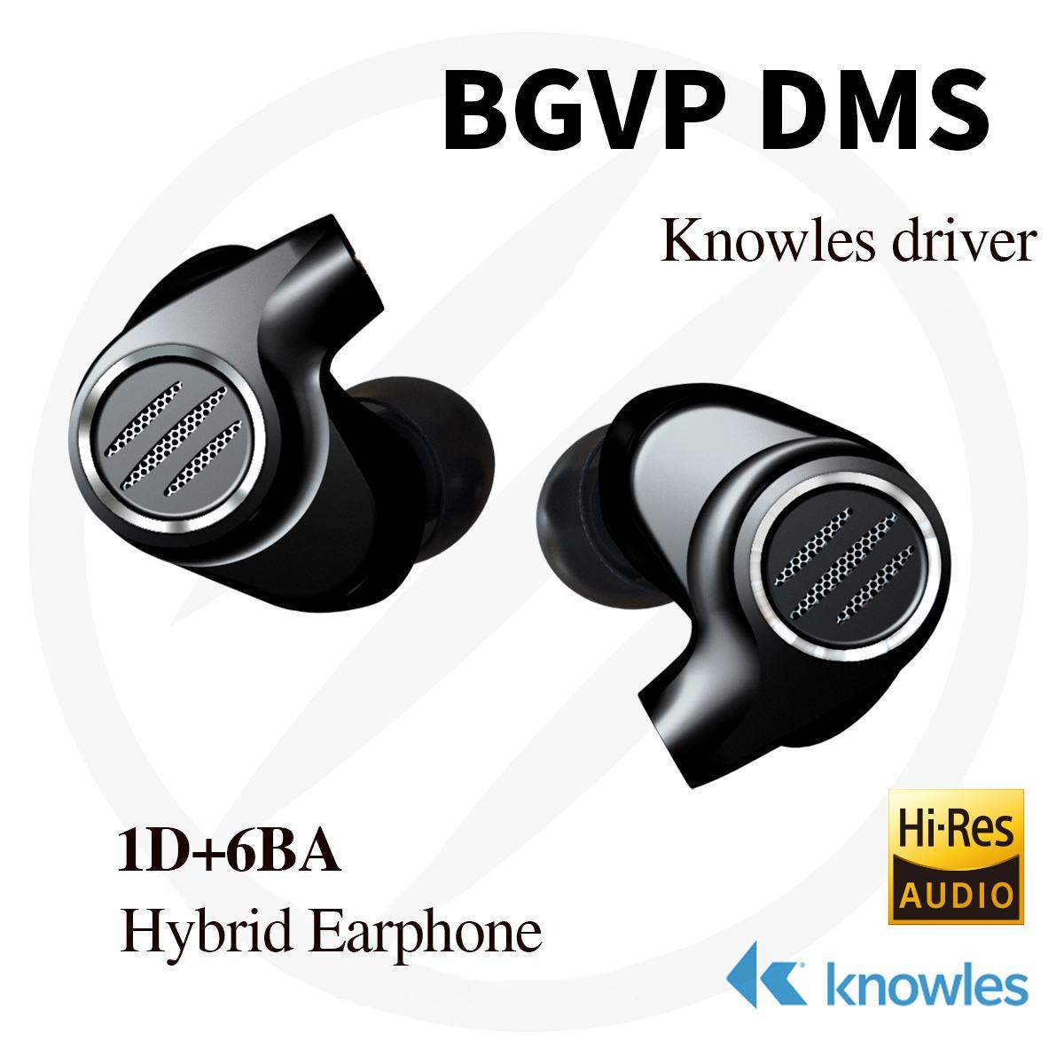 BGVP DMS 1 dynamique + 6 Armature équilibrée hybride écouteur dans l'oreille HiFi écouteur Sport moniteur de course écouteur avec câble OCC