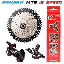 цена на free delivery SENSAH MTB  SRAM 12 Speed SHIMANO DEORE XT M8000 M9100 Groupset  Mountainbike 1x12-Speed 52T Bicycle Derailleur