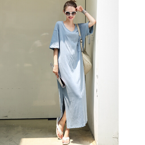 637  2018  Spring and summer new womens dress  loose t-shirt dress, short-sleeved dress, pregnant womans skirt637  2018  Spring and summer new womens dress  loose t-shirt dress, short-sleeved dress, pregnant womans skirt