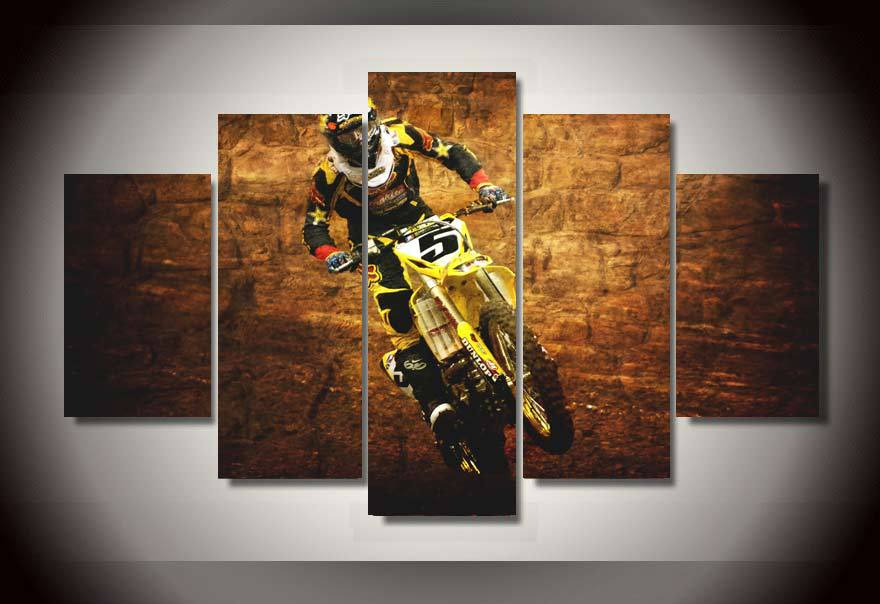 Hd Printed Motocross Jumps Group Painting Wall Art Children S Room Decor Print Poster Picture Canvas Free