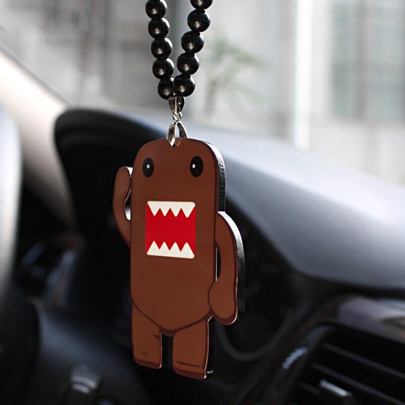 Car Pendant Acrylic Funny Domo-Kun Rock JDM Rear View Mirror Charms Ornaments Automobile Trim Hanging Suspension Decoration Gift
