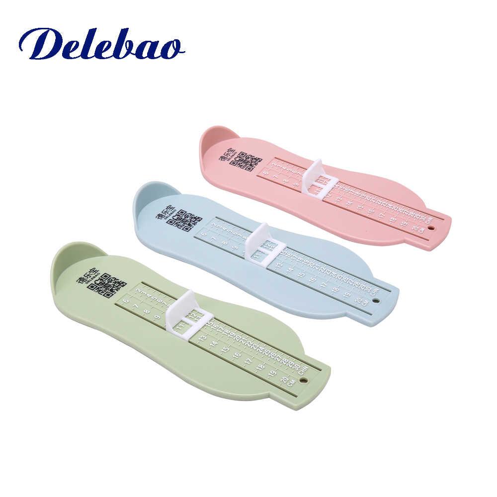 2 bebé Simple regla de medición Zapatos niños bebé zapato pie tamaño medida herramienta infantil dispositivo gobernante