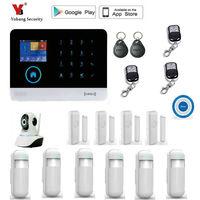 Yobang безопасности WI FI RFID GSM дома охранной сигнализации Системы с EN RU ES PL де переключаемый Touch Панель приложение Remote управление сигнализации