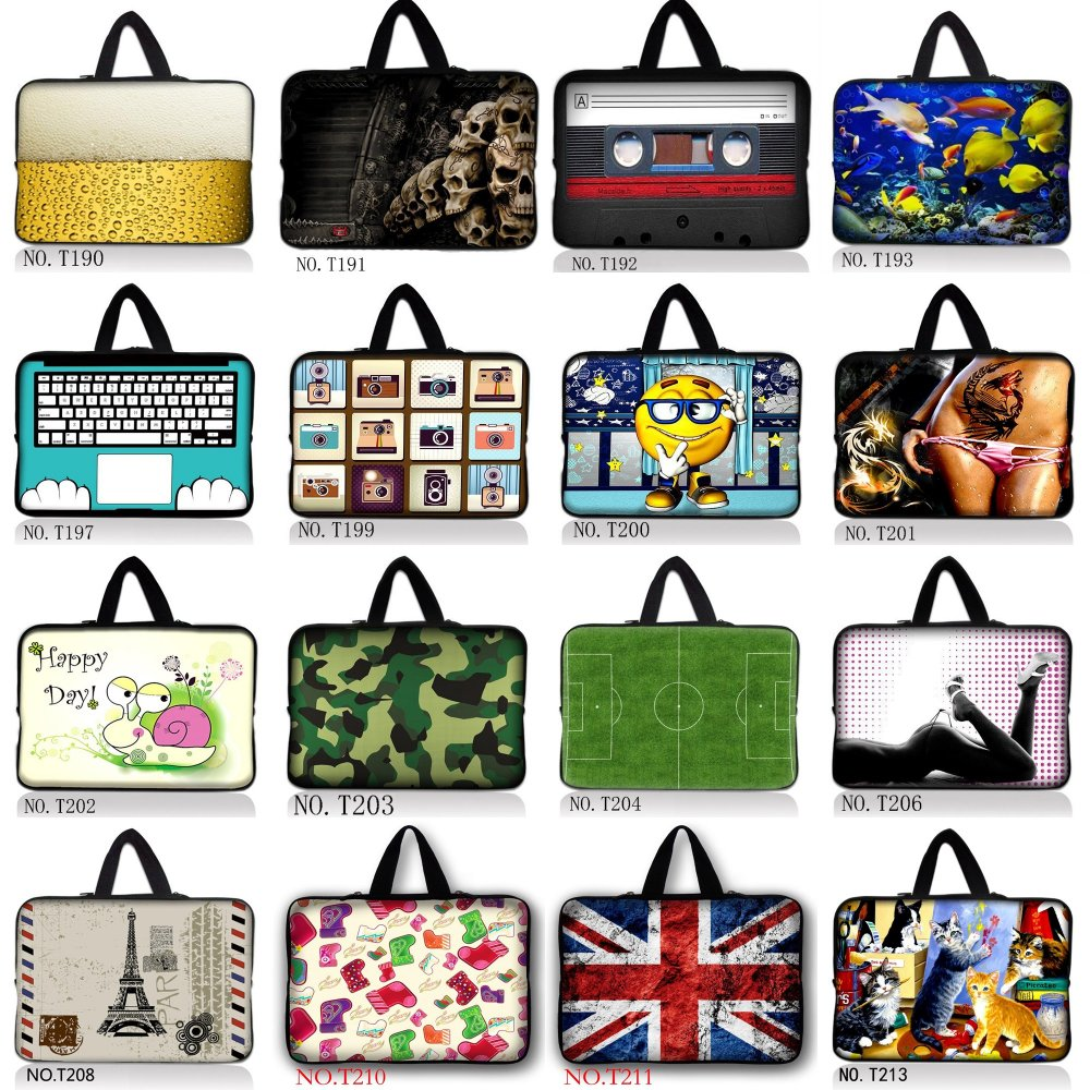 Spain Fast Shipping Notebook laptop Sleeve Bag Case For MacBook Air / Pro / Pro Retina 7.9 10 11.6 13 13.3 15.4 15.6 17.3 inch