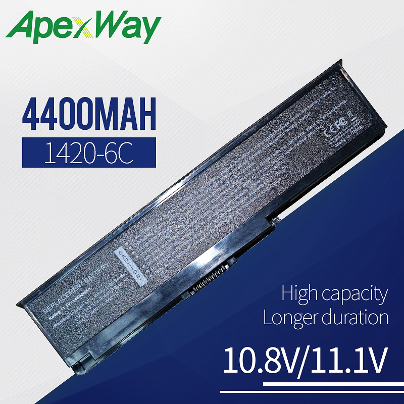 4400mAh Laptop <font><b>Battery</b></font> For <font><b>dell</b></font> <font><b>Inspiron</b></font> <font><b>1420</b></font> Vostro 1400 312-0543 312-0584 451-10516 FT080 FT092 KX117 NR433 WW116 image