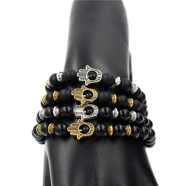 Модный антикварный золотой и серебряный цвет Фатима hamsa Шарм