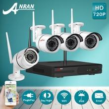 Акция! Подключи и Играй 4CH Беспроводной NVR Система Мониторинга и 720 P HD Водонепроницаемый Ночного Видения WI-FI Дома Камеры безопасности и Видеонаблюдения