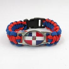 love dominican bracelet dominican country bracelet fashion man and woman rope bracelet dominican flag bangles(China)