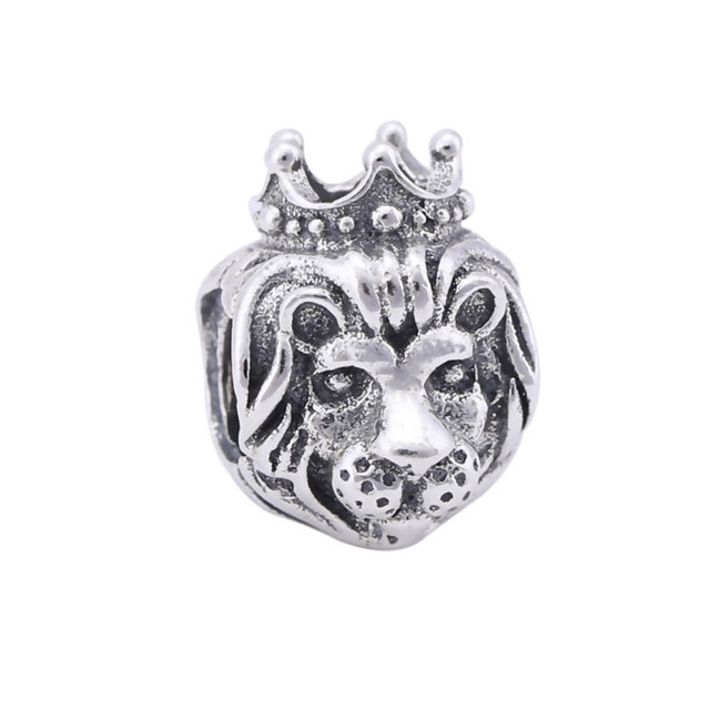 c511fb7f5 Original Genuine 925 sterling silver lion charms beads vintage lion king  diy jewelry Fits for Pandora Bracelets free shipping