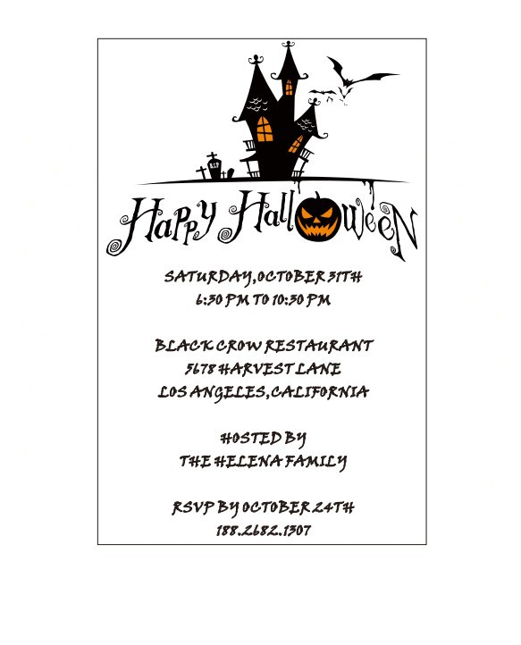 Halloween Party Invitations Templates with amazing invitation example