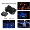 22M 200LED IP68 Home Decorative Light Lamp Waterproof LED Holiday Strings Light For Party Wedding Christmas