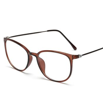8199   Retro circular spectacle frames for men and women with flat lens sunglasses
