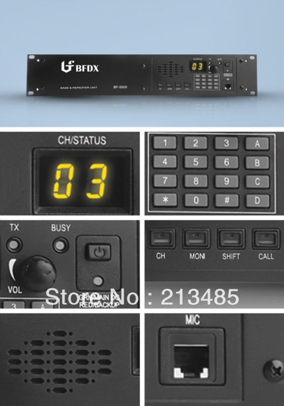 BFDX BF-5000 45Watts 150-174MHz 99Channel Radio Power Base Repeater Unit With Duplexer And Scrambler
