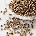 8/0 Glass Seed Beads, Iris Round, Sienna, about 3mm in diameter, hole: 0.8mm, about 10000pcs/bag