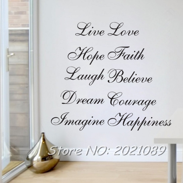 Meihuid Ten Positive Words Live Love Faith Dream Happiness Believe Simple Love And Faith Quotes
