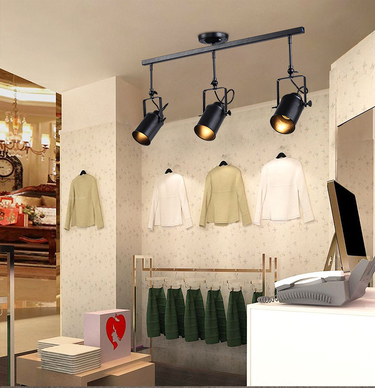 Nordic loft led track pendant light rh industrial black spot nordic loft led track pendant light rh industrial black spot hanging light lustres bedroom bar living room lamp in pendant lights from lights lighting on aloadofball Images