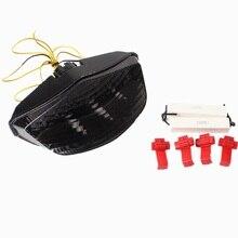 LED Turn Signal Brake Tail Light Integrated For Ducati Monster 696 796 1100 1100S Smoke