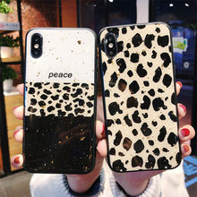 Gold Foiled Marble Phone Case Redmi Note 5 6 7 8 Pro Luxury Bling Glitter Cover For Xiaomi 8 9 SE Pro Mix 2 2s 3 K20 CC9 Leopard(China)
