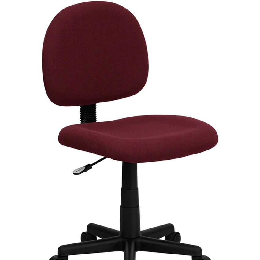 Flash Furniture Mid-Back Ergonomic Burgundy Fabric Task Chair [863-BT-660-BY-GG] ...